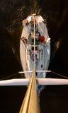 härlig stor yacht Arkivfoton