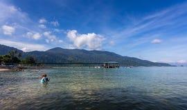 Härlig strand av den Tioman ön Arkivfoto