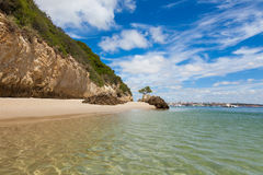 Härlig strand av Setubal nära Lissabon Portugal Fotografering för Bildbyråer