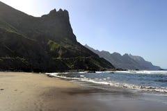 Härlig strand Benijo på Tenerife royaltyfri fotografi