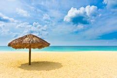 Härlig strand i Aruba, karibiska öar Fotografering för Bildbyråer