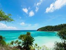 Härlig strand i Boracay, Filippinerna Arkivbild