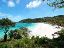 Härlig strand i Boracay, Filippinerna Arkivfoton