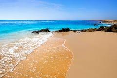 Härlig strand i fuerteventura Fotografering för Bildbyråer