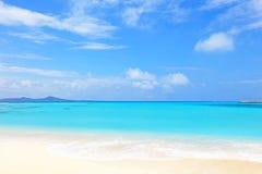 Härlig strand i Okinawa royaltyfri fotografi