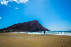 Härlig strand i Tenerife 4 royaltyfri fotografi
