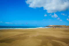 Härlig strand i Tenerife 3 arkivbilder