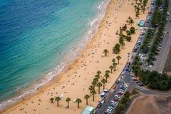 Härlig strand i Tenerife 2 arkivfoto