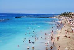 Härlig strand i Tenerife Arkivbilder
