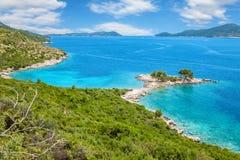 Härlig strand nästan Dubrovnik, Kroatien arkivbild
