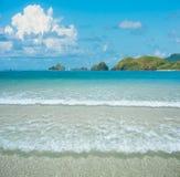 Härlig strand och tropiska havöar Lombok, Indonesien Royaltyfria Foton