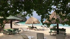 Härlig strand på Curacaoen stock video