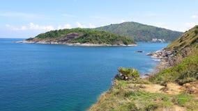 Härlig strand på den Phuket ön, Thailand arkivfoto