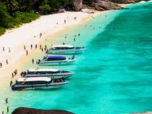 Härlig strand på den Similan ön Royaltyfri Foto