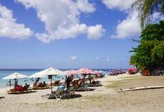 Härlig strand på den soliga dagen i Mauritius Fotografering för Bildbyråer