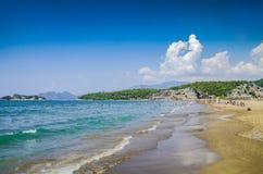 Härlig strand på det Aegean havet kalkon royaltyfria bilder