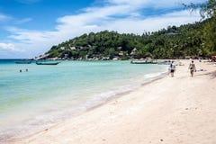 Härlig strand på Ko Tao Arkivfoto