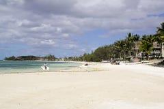 Härlig strand på Mauritius Arkivbilder
