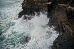 Härlig strand som Catedrais i Galicia i Spanien Royaltyfri Bild