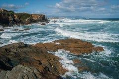 Härlig strand som Catedrais i Galicia i Spanien Fotografering för Bildbyråer