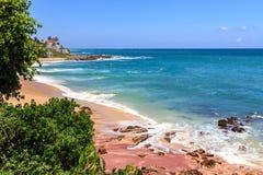 Härlig strand, Tangalle, Sri Lanka Fotografering för Bildbyråer