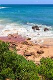 Härlig strand, Tangalle, Sri Lanka Royaltyfri Fotografi