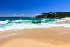 Härlig strand, Tangalle, Sri Lanka Arkivbild