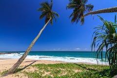 Härlig strand, Tangalle, Sri Lanka Arkivbilder