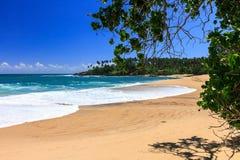 Härlig strand, Tangalle, Sri Lanka Arkivfoto