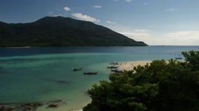 Härlig strandLipe ö som är sydlig av Thailand Arkivbild
