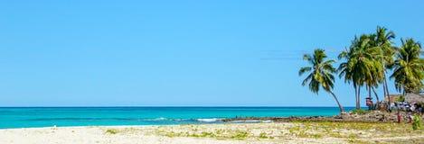 Härlig strandpanoramautsikt Fotografering för Bildbyråer