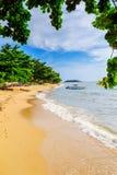 Härlig strandsträckning Royaltyfri Fotografi