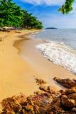 Härlig strandsträckning Arkivfoton
