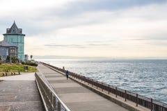 härlig stuga med havet, Ijokaku eller Sun Yat-sen Memorial Hall Arkivfoto