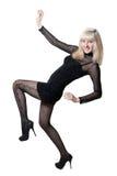 härlig svart blond klänning Royaltyfria Bilder