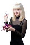 härlig svart blond klänning Royaltyfri Fotografi