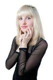 härlig svart blond klänning Royaltyfri Foto