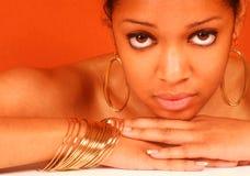 härlig svart kvinna Royaltyfri Fotografi