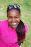 härlig svart kvinna royaltyfri foto
