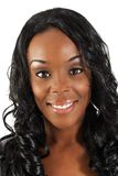 härlig svart kvinna för headshot 36 Arkivbild