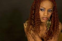 härlig svart modell Royaltyfri Fotografi