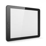 Härlig svart tabletPC på vit bakgrund Royaltyfri Bild