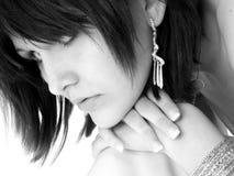 härlig svart teen white Royaltyfri Fotografi