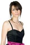 härlig svart tonårs- klänningflicka Royaltyfri Bild