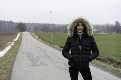 Härlig svensk caucasian tonårig flicka utomhus Arkivfoton