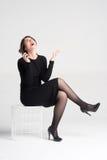 härlig talande kvinna arkivfoton
