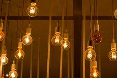 Härlig tappningbelysningdekor för byggande inre Royaltyfria Foton