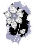 härlig tecknad blommahandillustration Royaltyfria Foton