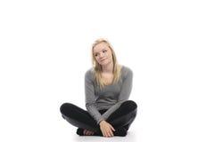 Härlig teen sitting Arkivfoto