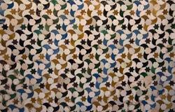 Härlig tegelplattadetalj från Alhambra Palace, Spanien Royaltyfri Fotografi